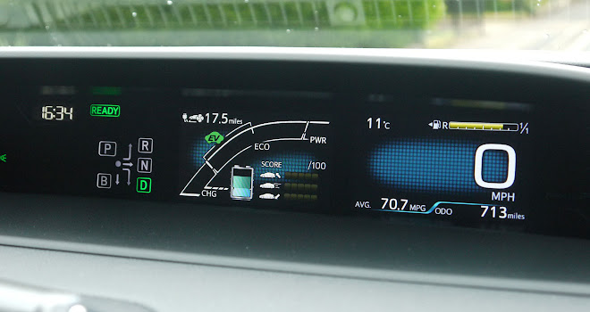 Toyota Prius Plug-in instrument panel