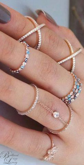 Brilliant Luxury ♦ beautiful modern diamond rings