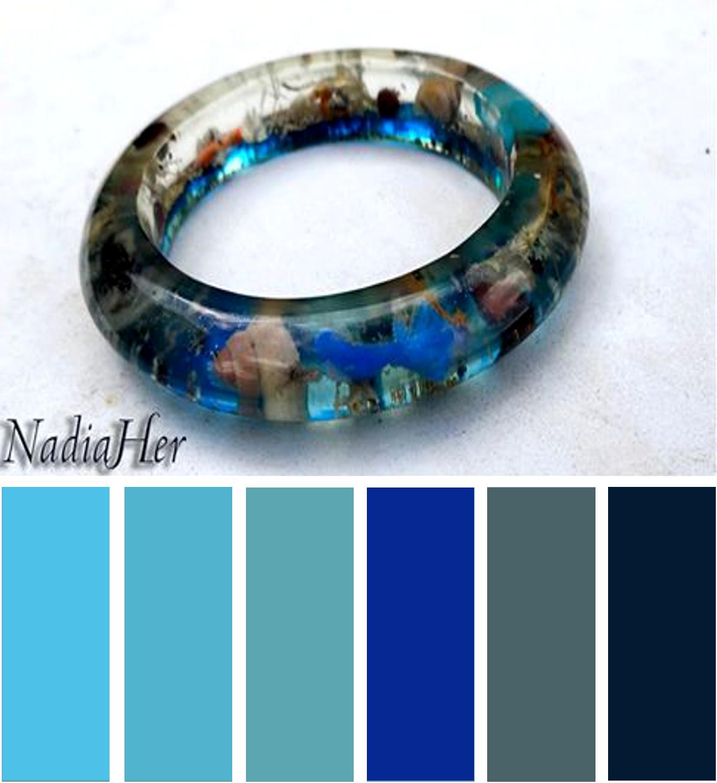 les bijoux de nadia bracelet en r sine epoxy aquarium. Black Bedroom Furniture Sets. Home Design Ideas