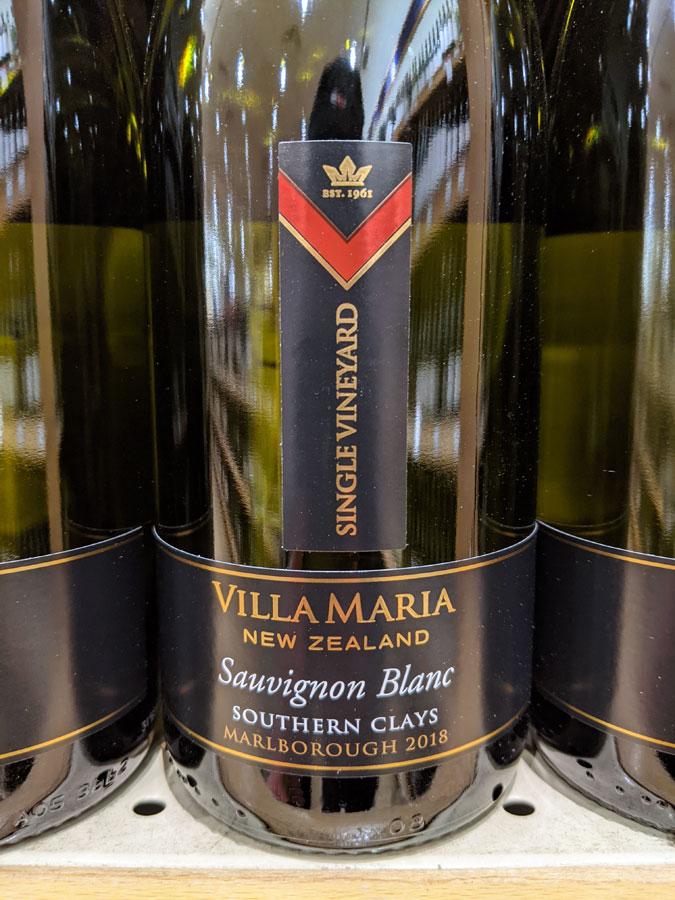 Villa Maria Southern Clays Single Vineyard Sauvignon Blanc 2018 (90 pts)
