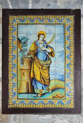 Santa Bárbara en la catedral de Narbonne