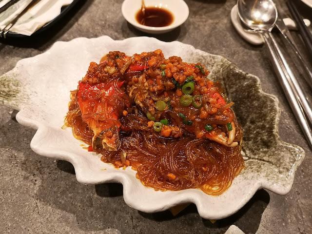 极品银鱼酱粉丝蟹煲
