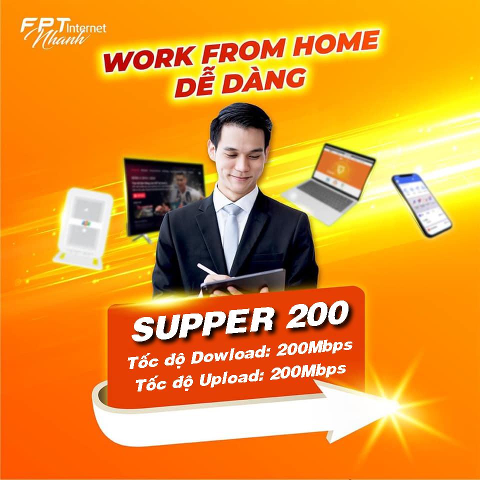 Gói Internet cáp quang FPT cho doanh nghiệp Supper 200MBps