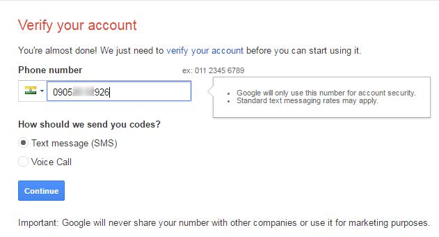 new gmail account create