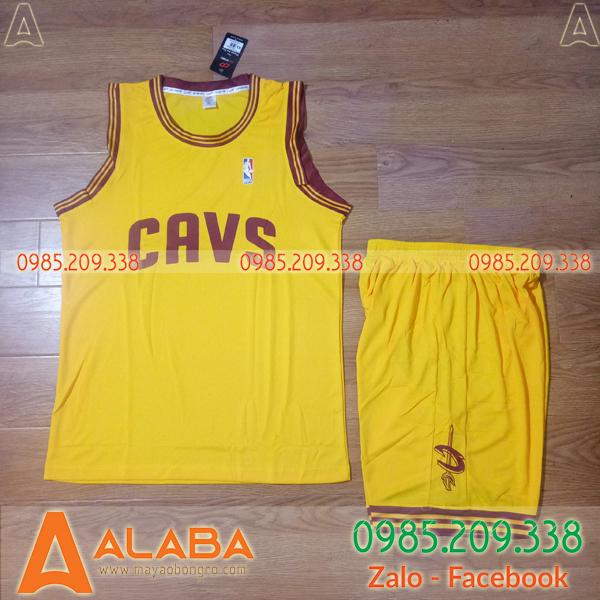 Áo bóng rổ CAVS màu vàng đẹp