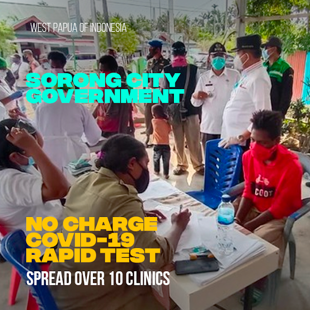 Come to the Puskesmas, Poor Residents in Sorong Can Free Rapid Test
