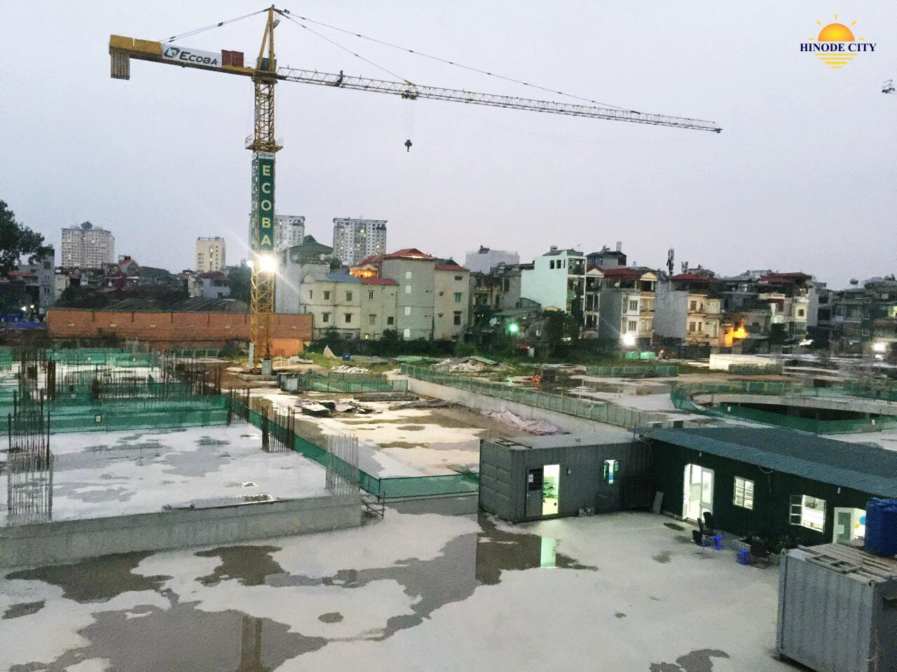 Tiến độ xây dựng của chung cư Hinode City
