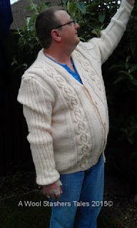 Cabled Northshore Cardigan,