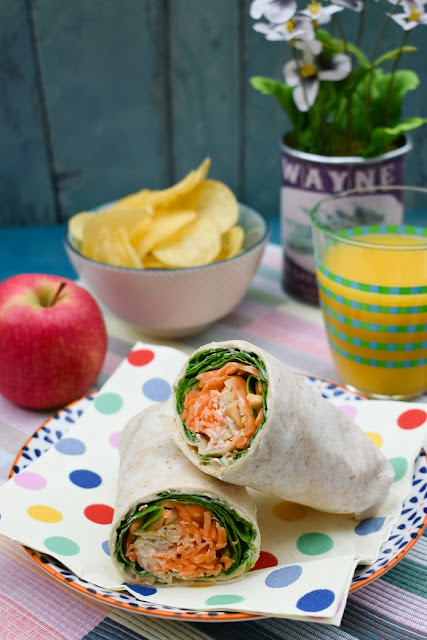 Carrot & Spinach Crunch Lunch Wrap