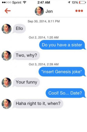 Funny chat up lines for tinder dating