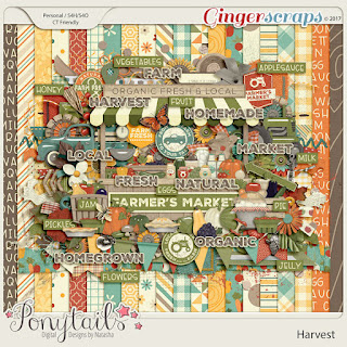 Creative Team, Annemarie, for GingerScraps ? Harvest, Ponytails Digital Designs and Coordinating Freebie