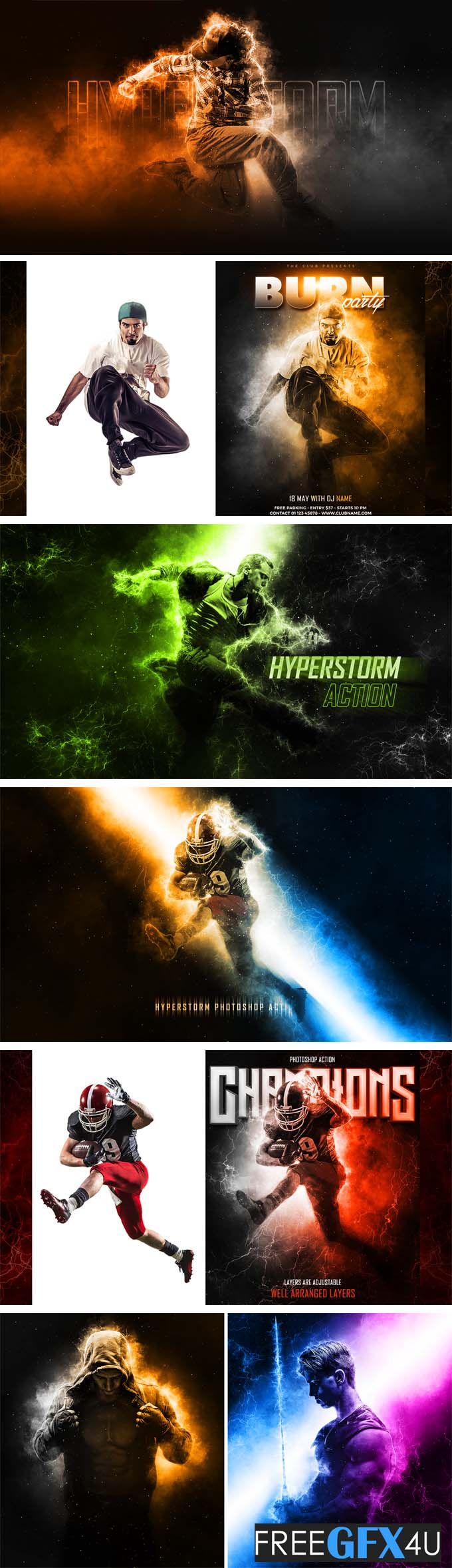 Graphicriver - Hyperstorm Photoshop Action