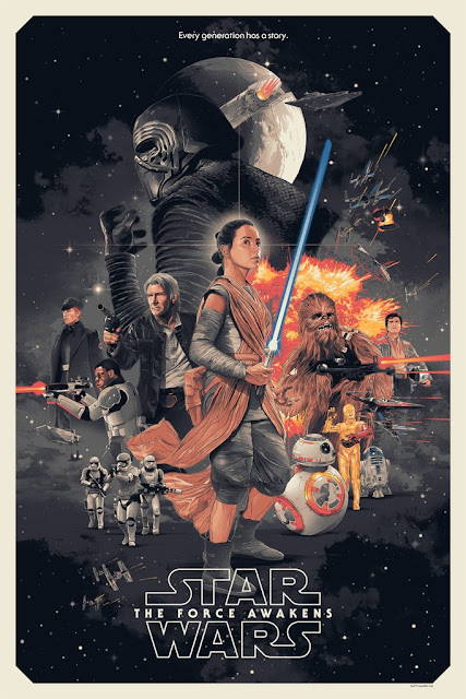Star Wars: The Force Awakens Variant Screen Print by Gabz x Bottleneck Gallery x Acme Archives