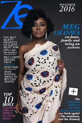 Meg Otanwa honours her late mother by dressing in her lace on the cover of Zen Magazine Africa this November