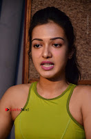 Actress Catherine Tresa Pos during Self Dubbing for Gautham Nanda Movie  0009.JPG