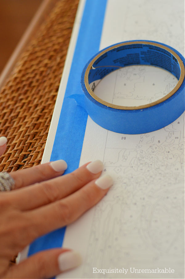 Blue Painters Tape for Paint By Numbers