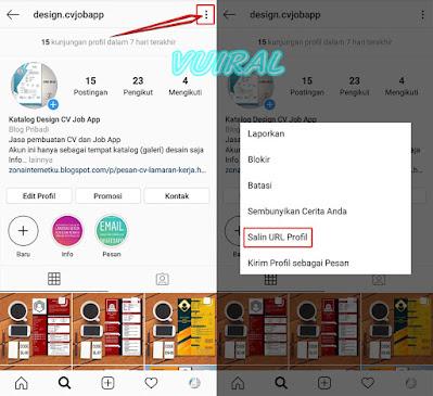 Cara Copy Link Akun/Profil Instagram Sendiri Dan Orang Lain