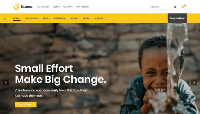 Kunco - Yardım ve bağış toplama Wordpress teması