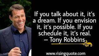 photo of Tony Robbins and motivational quote by Tony Robbins