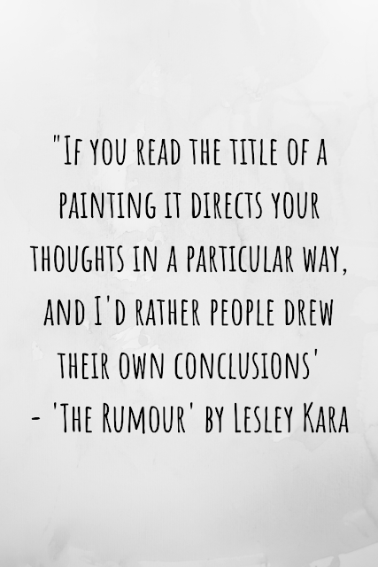 Review of 'The Rumour' by Lesley Kara
