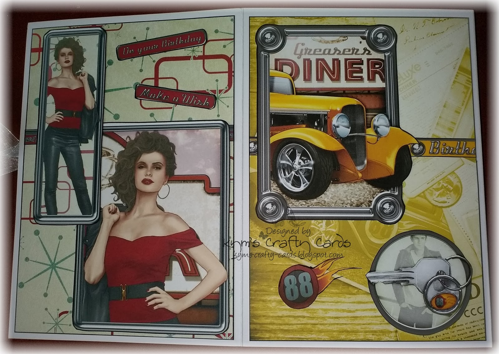 Kym S Crafty Cards Very Special Birthday Card