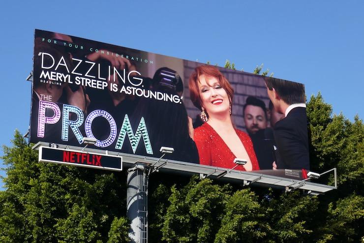 Meryl Streep Prom FYC billboard