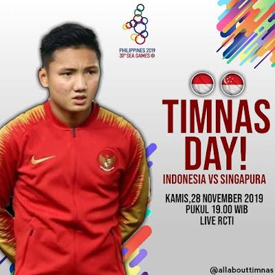Live Streaming Indonesia vs Singapura (SEA GAMES) 28.11.2019