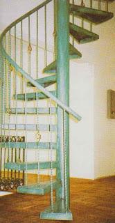 Gambar contoh tangga spiral