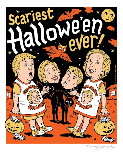 """SCARIEST HALLOWEEN EVER,"" Signed, Lt. Ed. serigraph by DANNY HELLMAN"
