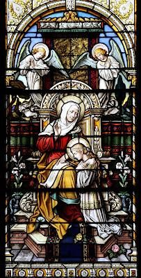 Imagem de Sant'ana com Nossa Senhora menina, vitral, #2