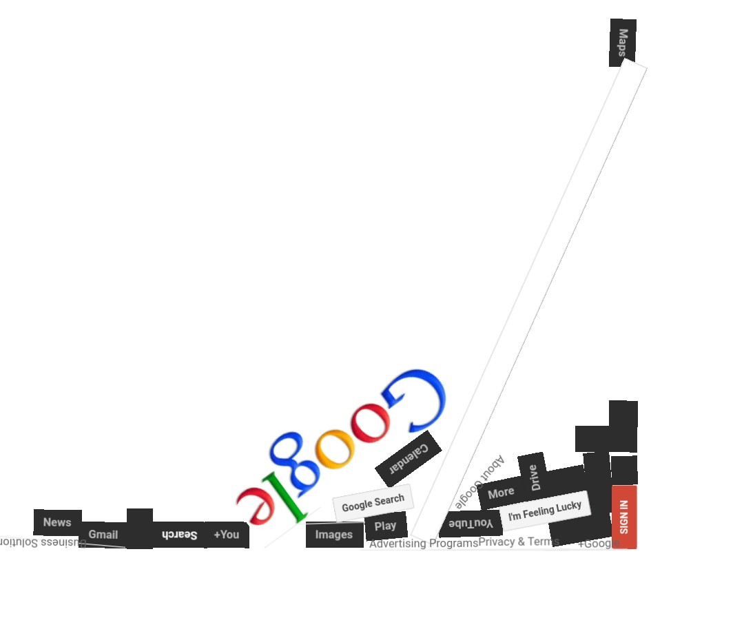 Google comes crashing to the ground - google gravity