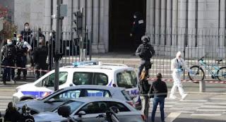 Gereja di Prancis Diserang, Tiga Orang Tewas, Satu di Antaranya Dipenggal