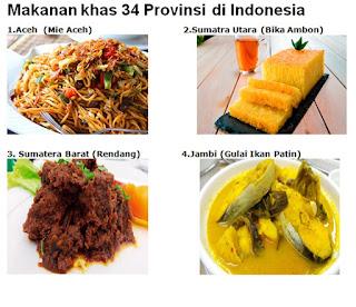 makanan khas 34 provinsi