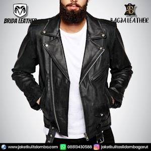 Jual Jaket Kulit Asli Garut Pria Domba Original Brida Leather B71 Ramones | WA 08813430588