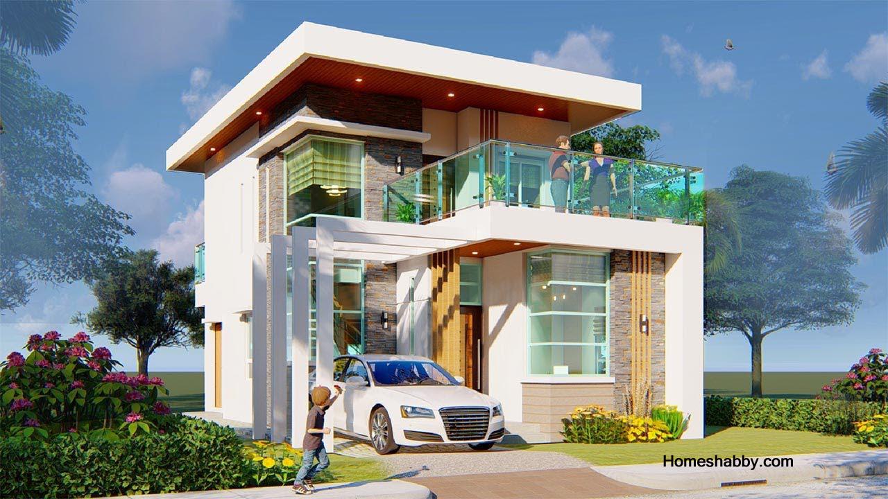 Desain Dan Denah Rumah Minimalis Lantai 2 Ukuran 6 X 11 M Tampil Lebih Megah Dan Modern Homeshabby Com Design Home Plans Home Decorating And Interior Design