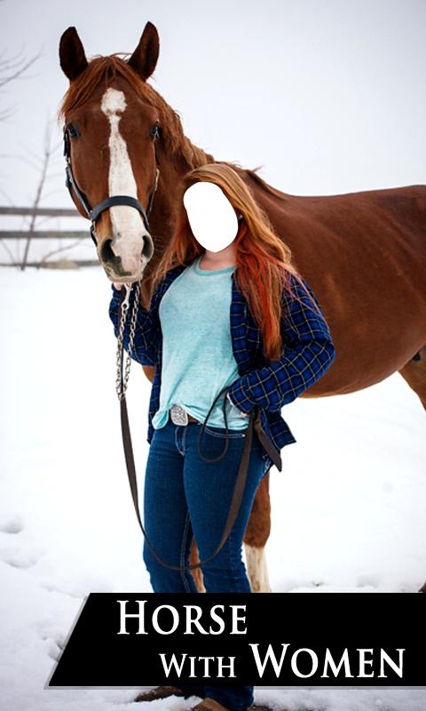 Gigo Apps: Horse Photo Suit with Women | Women Horse Riding