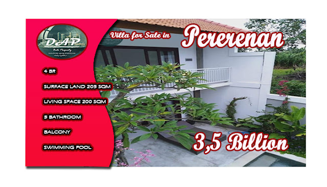 4 Bedroom Villa In Tumbak Bayuh Pererenan Bali On Sale By 3 5 Billion Devata Agung Property