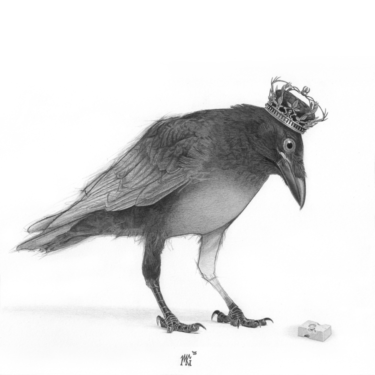 21-Queen-of-Birds-Matthew-Greskiewicz-Realistic-Graphite-and-Charcoal-Drawings-www-designstack-co
