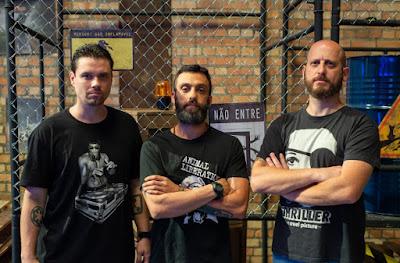 Armando Fonseca, Raphael Borghi e Kapel Furman, apresentadores do Cinelab (Foto Divulgação: Mila Cavalcanti)
