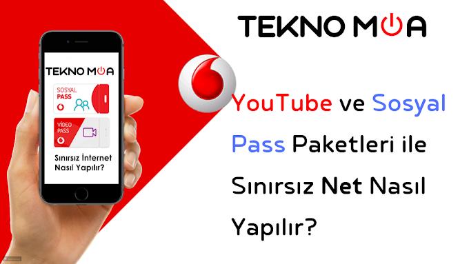 Vodafone | YouTube ve Sosyal Pass Paketleri ile Sınırsız İnternet Yapma!