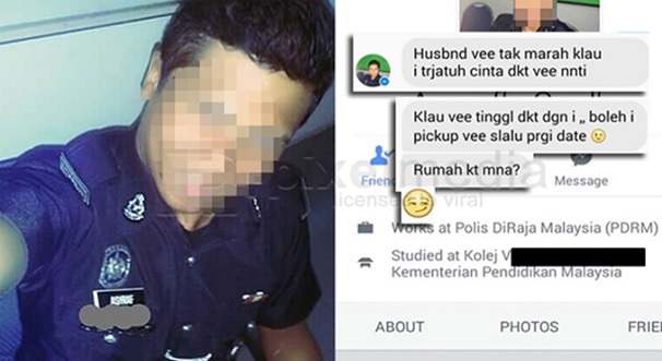 'Kita Jumpa Di Balai Ok' - Anggota Polis Kantoi Goda Isteri Orang Jadi Tular Di Laman Sosial