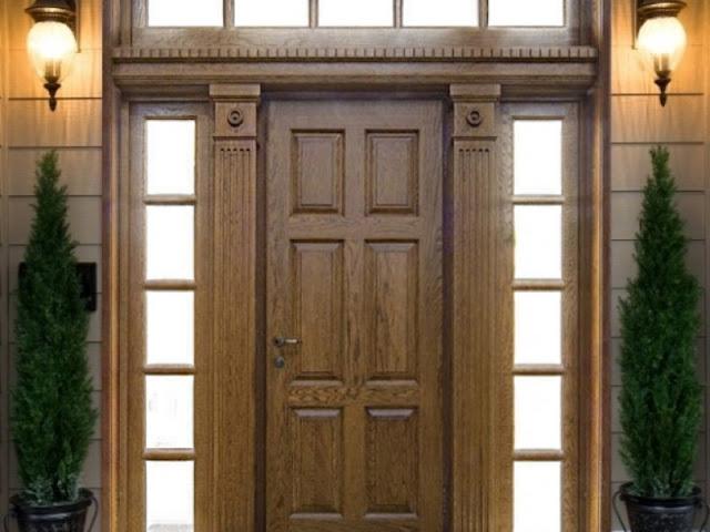 mẫu cửa gỗ chắc chắn với bản lề thủy lực