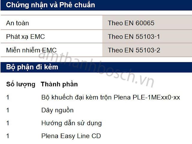 Bộ khuếch đại kèm trộn PLENA PLE‑1MExx0‑xx