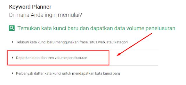 Cara menggunakan Google Adwords Keyword Planner untuk pertama kali