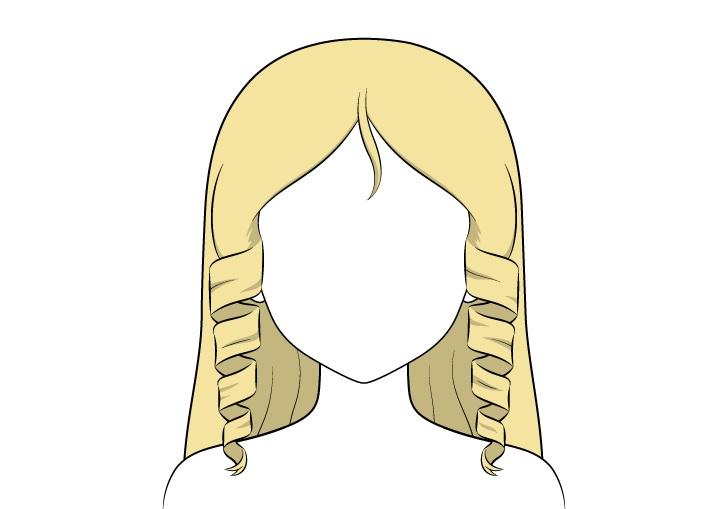 Shading rambut keriting anime