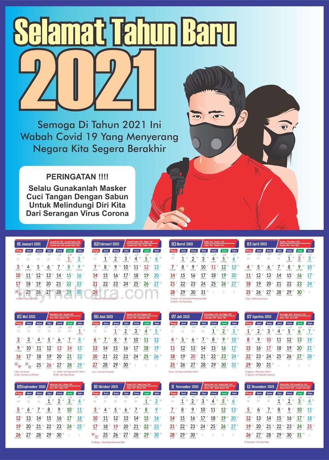Download Template Kalender Nasional + Jawa Lengkap 2021 ...