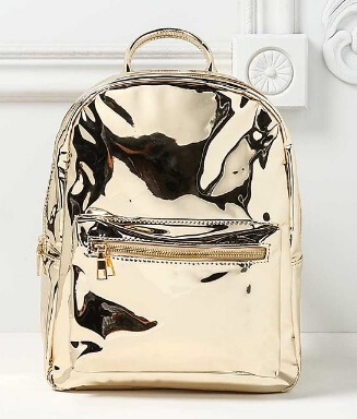 Love Culture Gold Chrome Backpack