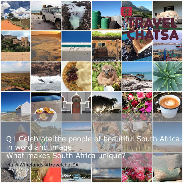 Red sand dunes, Land Rover, cup of tea, flowers, beach houses, plants, flag lighthouse. 1000 Reasons to Visit South Africa. #travelchatSA