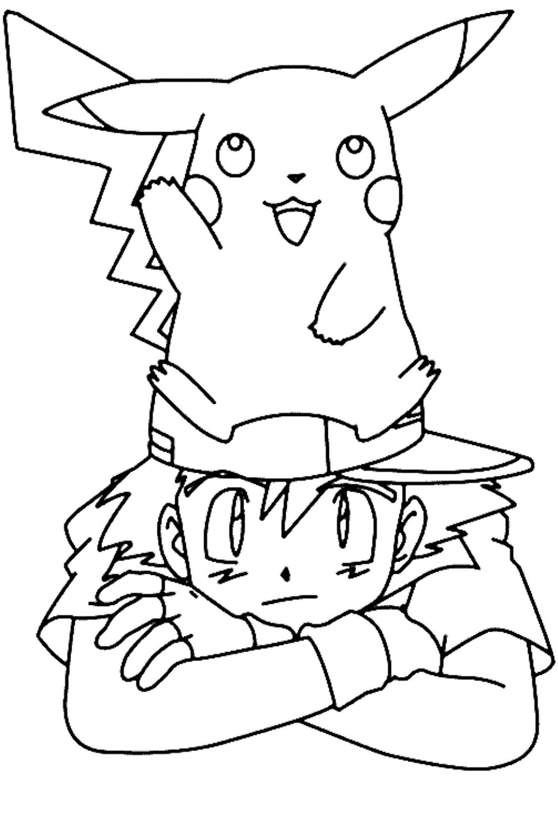 cool pokemon ash and pikachu coloring pages free printable