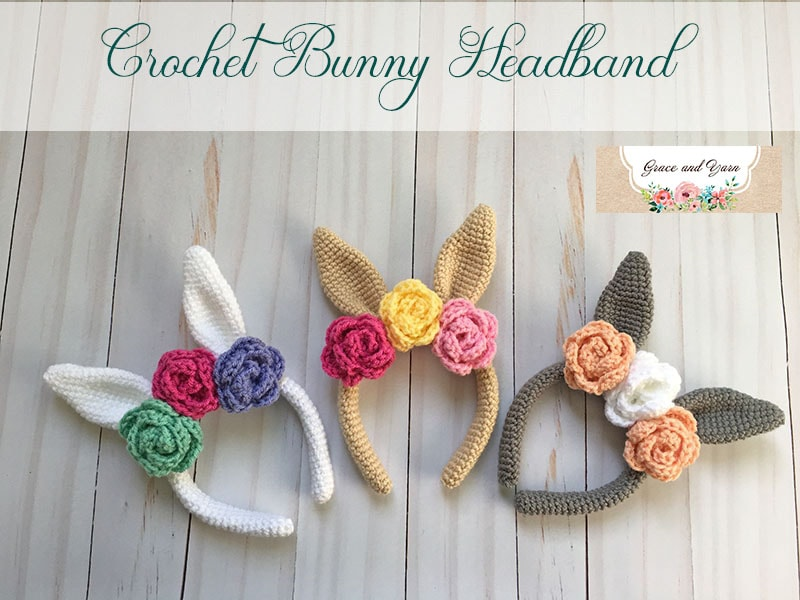 Crochet Bunny Headband A Free Pattern Grace And Yarn